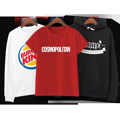 33f8b54c2e95f Печать на футболках дешево заказать в Москве от 1 шт. Нанесение логотипов,  рисунков